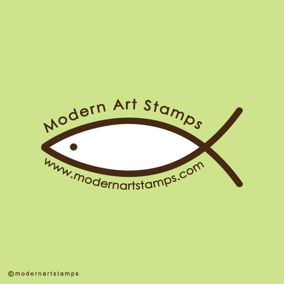 Custom Rubber Stamp   Custom Stamp   Return Address Stamp   Custom Address Stamp   Personalized Stamp   Christian Fish Stamp   C126