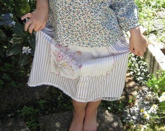 Upcycled Skirt Made from Vintage Fabrics 5-6