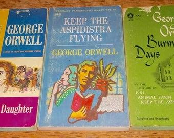 George Orwell Vintage Paperback Book Lot Of 3