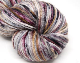 "Dubstep DK Yarn - ""Whiskey and Wine"" - Handpainted Superwash Merino - 231 yards"