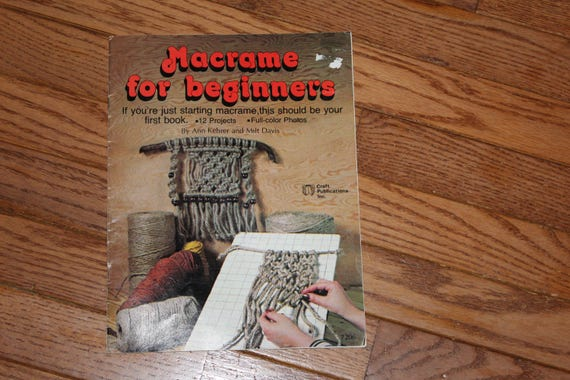 macrame projects for beginners vintage macrame for beginners tutorial book 2484