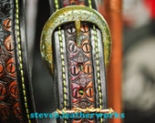 "Belt 7- The Ebben -  a 1.5"" wide custom leather belt - Unisex, Mens or Ladies Custom Handmade Leather Belt"