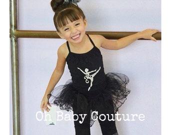 Girls Glitter Ballerina ruffled tutu