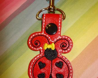 LADYBUG  KEY CHAIN   Fun and Functional Gift for Mom Teachers and Ladybug Lovers
