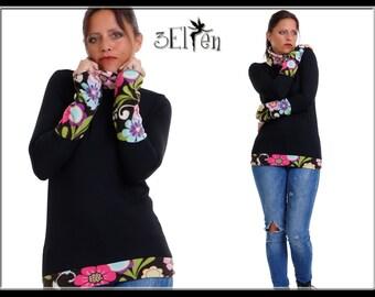 Sweater Fleece Print Flower wunderblume