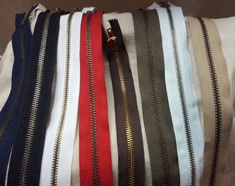"11"" - 16"" Pick 1 color size Metal One Way 5mm Zipper"