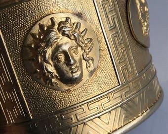 WIDE Vintage Cuff Bracelet . Bangle . Renaissance Medival revival Jewelry