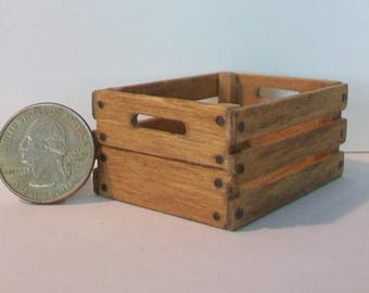 Mini Crate with open handles  1:12 scale