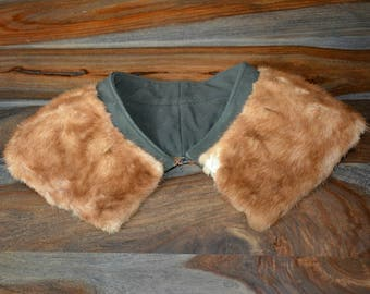 Vintage Mink Fur Collar, LARP,  Fur Collar, Brown Fur, Add-On Collar, DIY Fur Collar, Fur Accents, Fur Pieces, Mink Fur, fur supplies, Mink