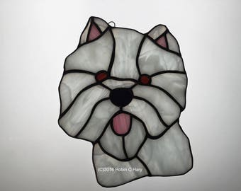 Westie in Stained Glass