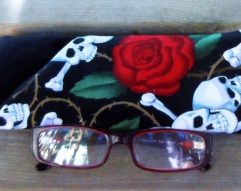Skulls and Roses - EyeGlasses, Sunglasses, Holder, Case, Cozy