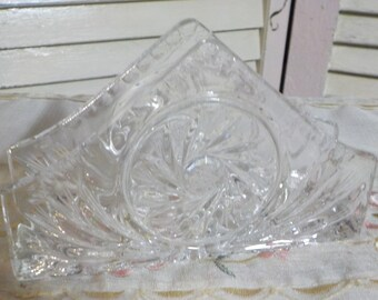 So Chic - Vintage Lead Crystal Napkin Holder - Elegant - Table accessory - 1950 Era