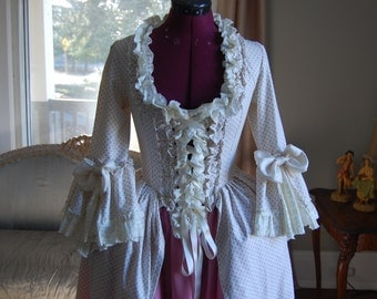 pink and white spring Marie Antoinette Victorian inspired rococo costume dress