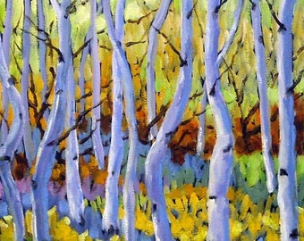 On Sale Rigaudon Of Aspen Oil Painting created by Prankearts