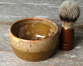 Handmade Ceramic Shave Mug with Shave Soap of your choice