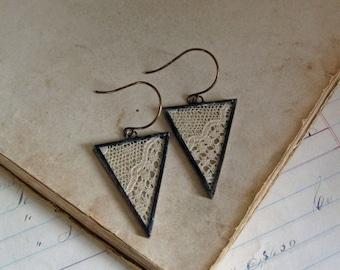 Triangle Drop Jewelry Lace Earrings