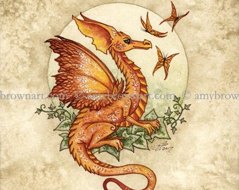 5x7 Butterfly Gossip dragon PRINT by Amy Brown