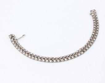 Crystal Rhinestone Sterling Bracelet Diamante Vintage