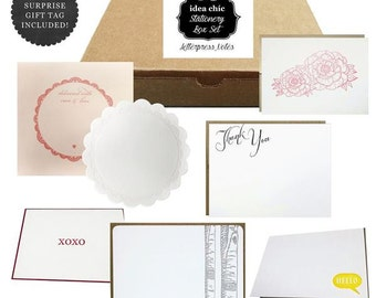 Letterpress Greeting Cards - Idea Chic Stationery Box Set