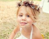 Reserve for Jenna: Woodland Flower Girl Crown