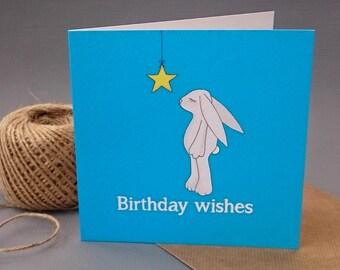 Birthday wishes - Birthday card - Hare illustration
