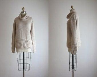 irish wool cowl sweater
