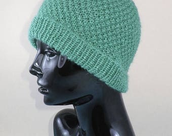 50% OFF SALE Instant Digital File pdf download Knitting pattern- Double Moss (Seed) Stitch Beanie Hat pdf download knitting pattern