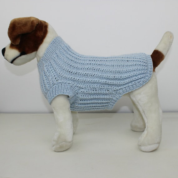 Boxer Dog Coat Knitting Pattern : SALE Madmonkeyknits - Simple Fishermans Rib Dog Coat ...