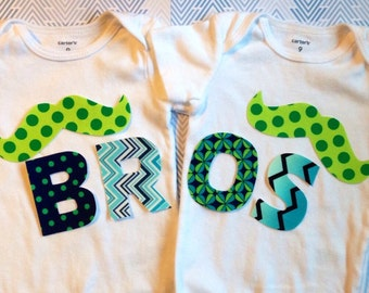 Bros Fabric Iron On Applique Twins