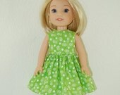 "35% OFF Dress for 14"" Wellie Wishers or Melissa & Doug Doll Clothes green flowers tkct978"
