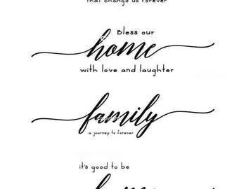 Home Quote SVG Files, Family Quote Cuttable SVG, Home Decor SVG, Svg, Eps, Gsd, Ai, Vinyl Cut Files for Silhouette, Cricut, and more