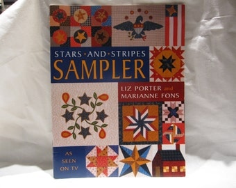 Destash---Fons and Porter quilting book, quilting patterns, stars and stripes sampler, 20 patterns