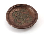 OUROBOROS Snake  Offering Bowl Handmade Ceramic Pottery