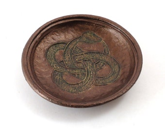 OUROBOROS Snake  Offering Bowl Handmade Ceramic Pottery