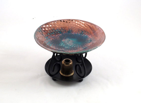 Essential Oil Diffuser in Dragon Skin Raku Handmade Ceramic