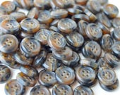 SEE SHOP ANNOUNCEMENT For % Off Coupon Code - Brown Multi Colored Buttons - 7/16 inch - You Pick Quantity - 100 to 200