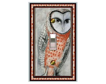 0142x - Owl Design - mrs butler  switch plate plates for walls - switch covers - switch plate covers - light switch plateswitch plate cover