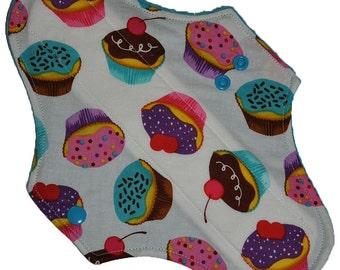 Moderate Core- Cupcakes Reusable Cloth Maxi Pad- 10 Inches (25.5 cm)