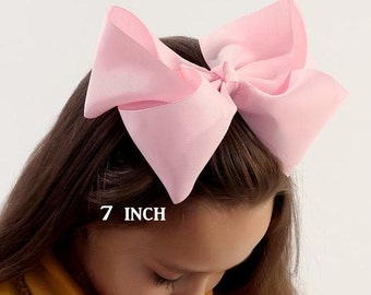 Big Bow, Jumbo Hair Bow, Girls Large Hairbow, Southern Style Bow, 6 7 or 8 Inch Bows, Texas Sized Bows, Girls Jumbo Bows, X-tra Large, BTS