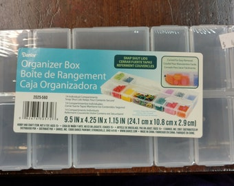 Storage Box System 24 Individual Containers Fit Inside Large