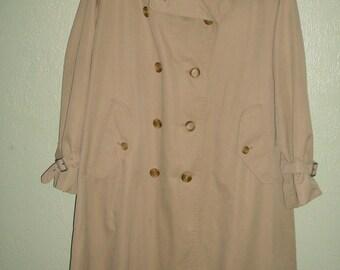 BURBERRYS Trench Coat Women's Large Khaki Beige