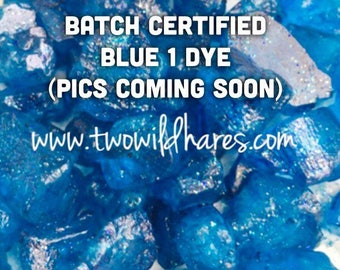 ELECTRIC BLUE Batch Certified FD&C Blue 1, 86% Pure Dye, Cosmetic Powdered Water Colorant, 1 oz