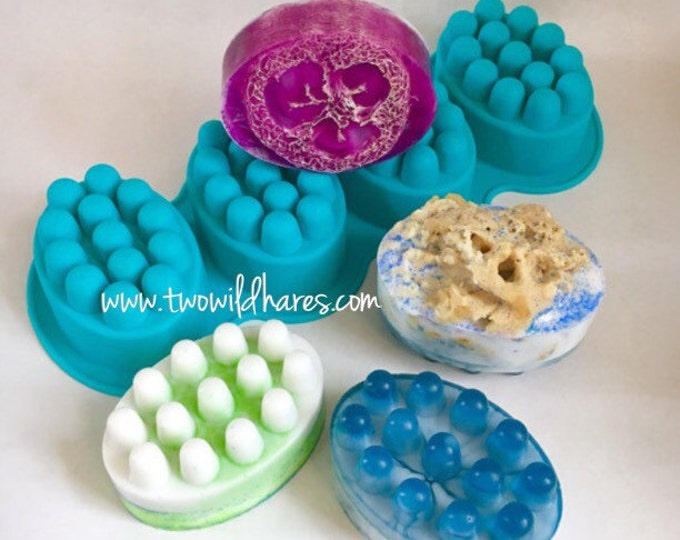 MASSAGE BAR Mold, 4 - 4.5 oz cavities, Silicone, TWH Exclusive