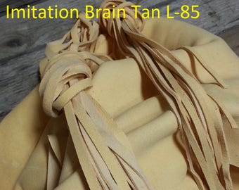 Imitation Brain Tan Deer Buckskin- Lacing, Half and Full Hides Stock No. L-85