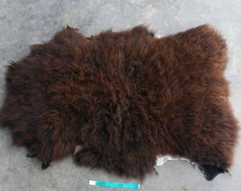 Sheepskin- Dark Brown Medium Wooled Sheep Hide Lot No. 25057TURQ