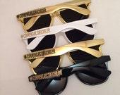 Bachelorette Party Favors, Bachelorette Gift, Family Cruise, Family Vacation, Spring Break, Personalized Sunglasses, Bachelorette Trip