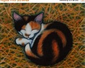 HOLIDAY SALE Calico Barn Cat.  Archival 8.5x11 print