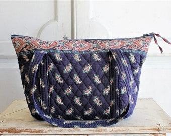 vintage Vera Bradley Indiana quilted bag   made in USA