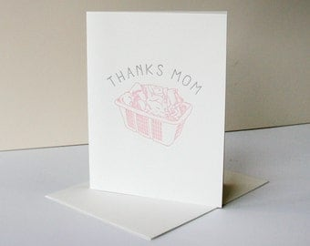 Letterpress Mother's Day Card - Laundry Thanks Mom