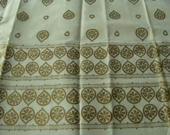Raining Gold Flowers ~ Vintage Cotton Fabric